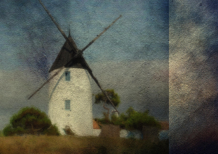 Sky Digital Art - The Windmill by Sarah Vernon