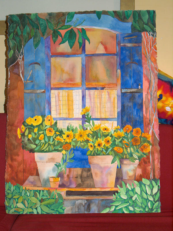 The Window Painting by Aline Kala