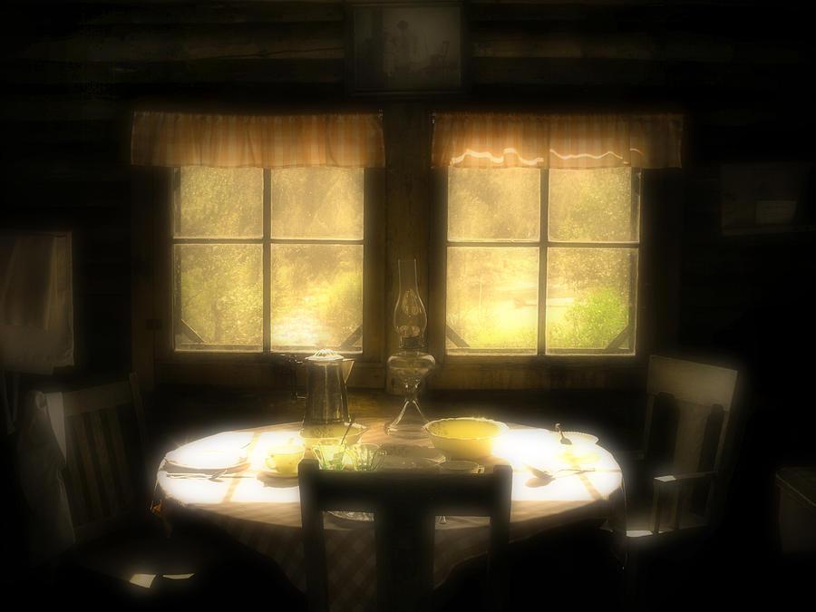 Window Photograph - The Window At Breakfast by Tara Turner