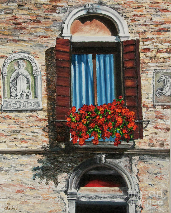 Window Paintings Painting - The Window by Charlotte Blanchard
