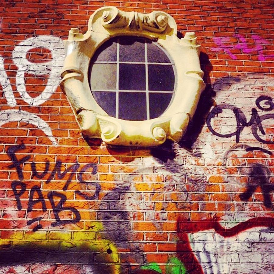 City Photograph - The Window In The Wall. Amsterdam by Aleck Cartwright