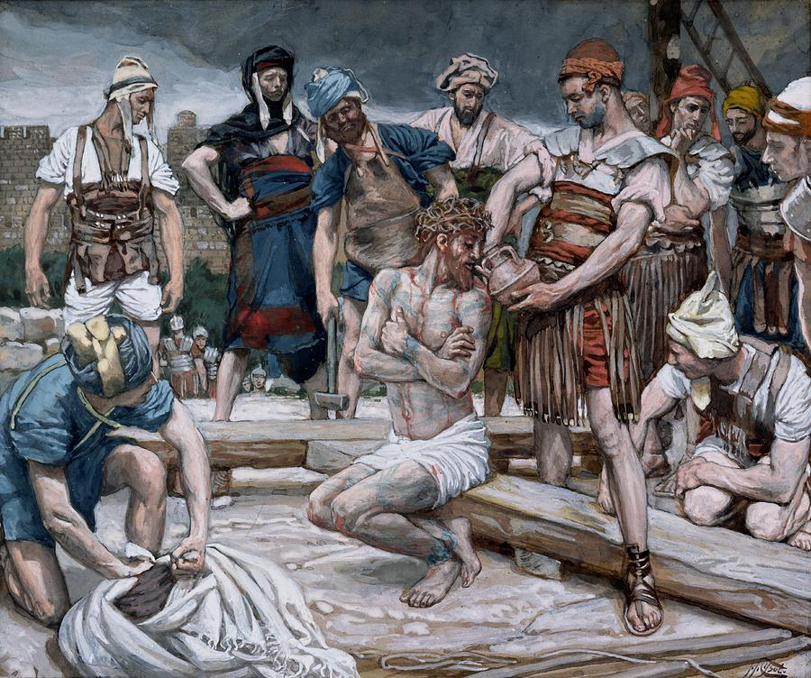 Dutch Courage Painting - The Wine Mixed With Myrrh by Tissot
