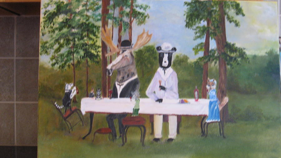 Landscape Painting - The Wine Party by Colleen DalCanton