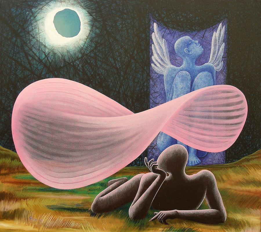 Romantic Painting - The Wings by Raju Bose