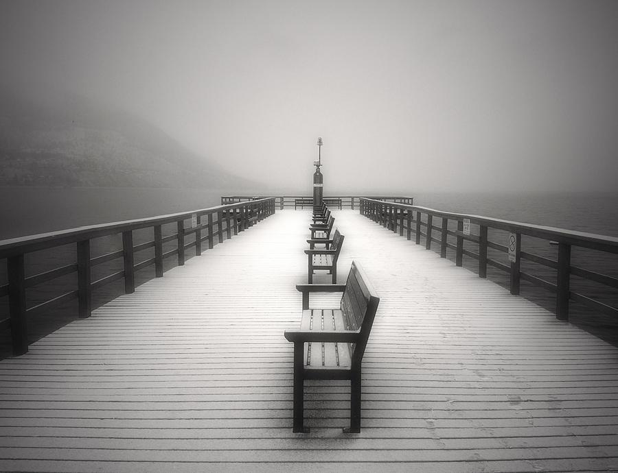 Okanagan Photograph - The Winter Pier by Tara Turner