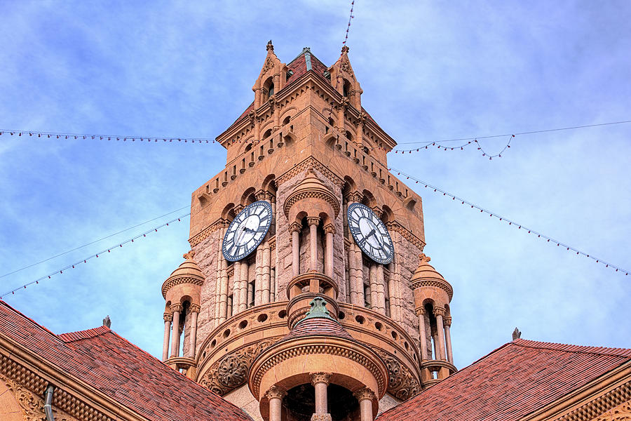 Decatur Photograph - The Wise County Courthouse Clock Tower by JC Findley