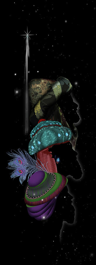 Three Digital Art - The Wise Men by Julie Rodriguez Jones