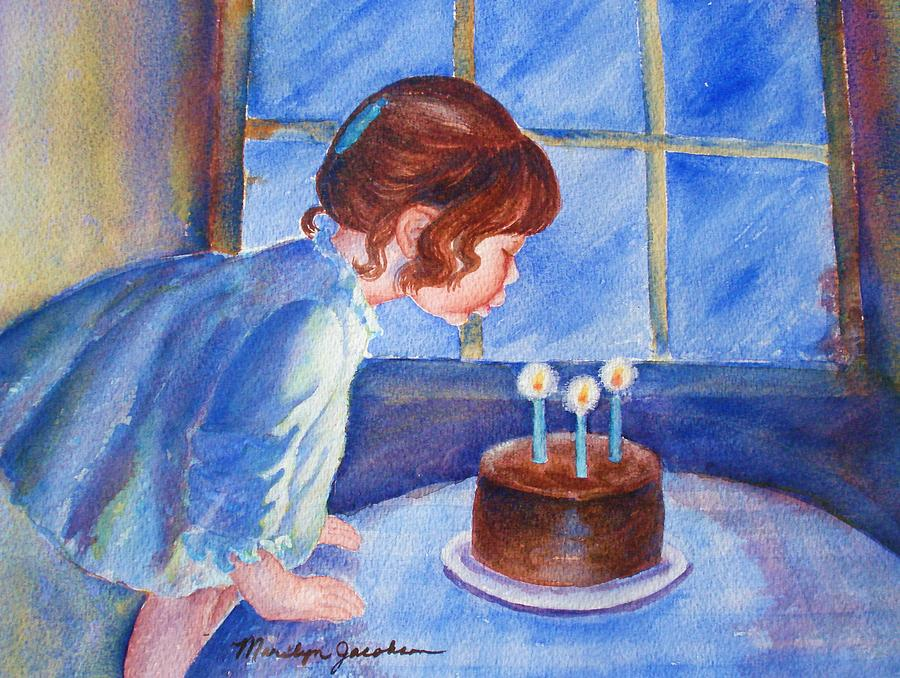 Birthday Wish Painting - The Wish by Marilyn Jacobson