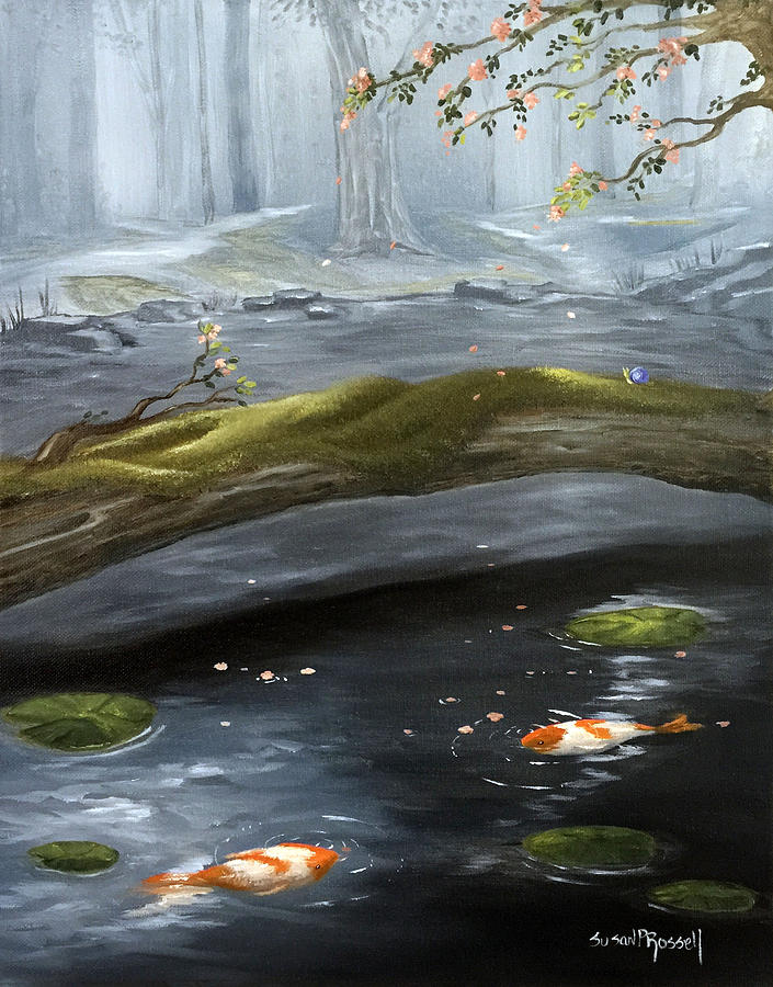 Oil Painting - The Wishing Pond  by Susan  Rossell