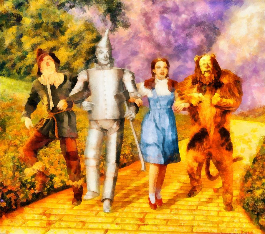 The Wizard Of Oz Cast Painting