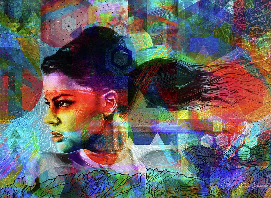 The Woman Of Spring Digital Art By Nabil El Masni