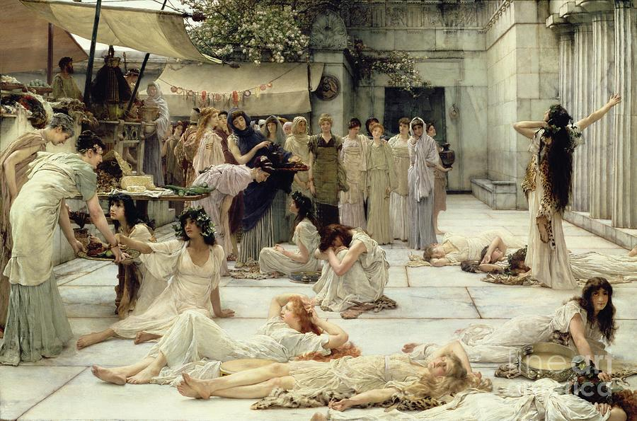 The Painting - The Women Of Amphissa by Sir Lawrence Alma-Tadema