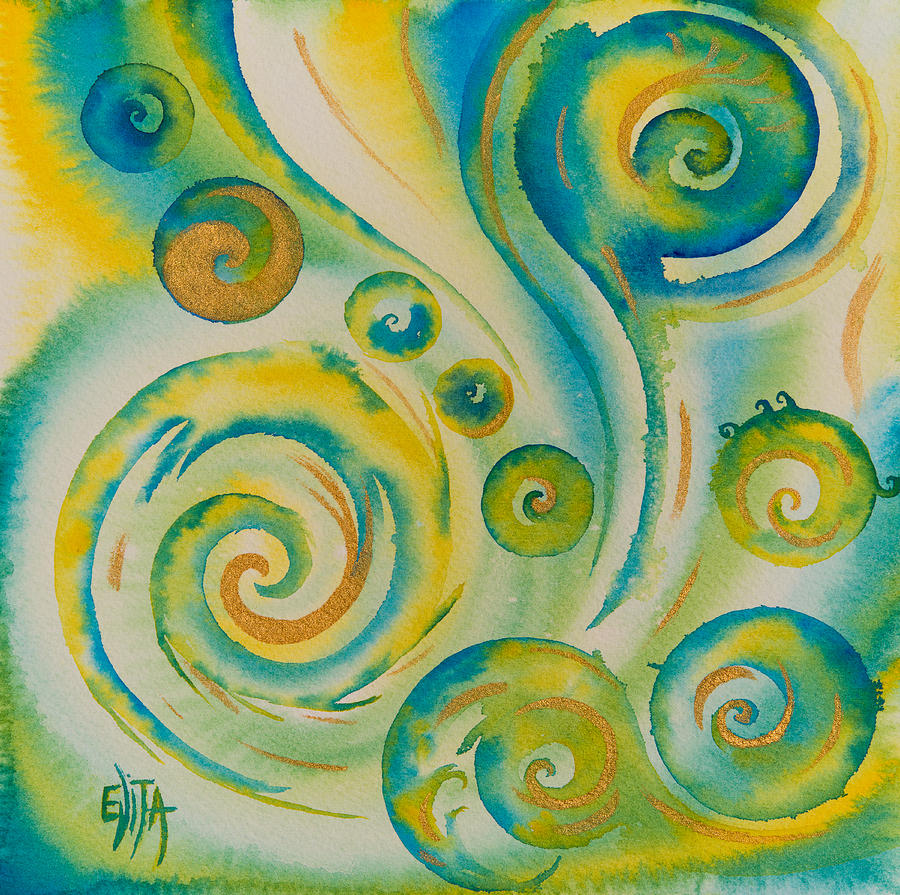 Abstract Painting - The Wonder by Evita Kristapsone