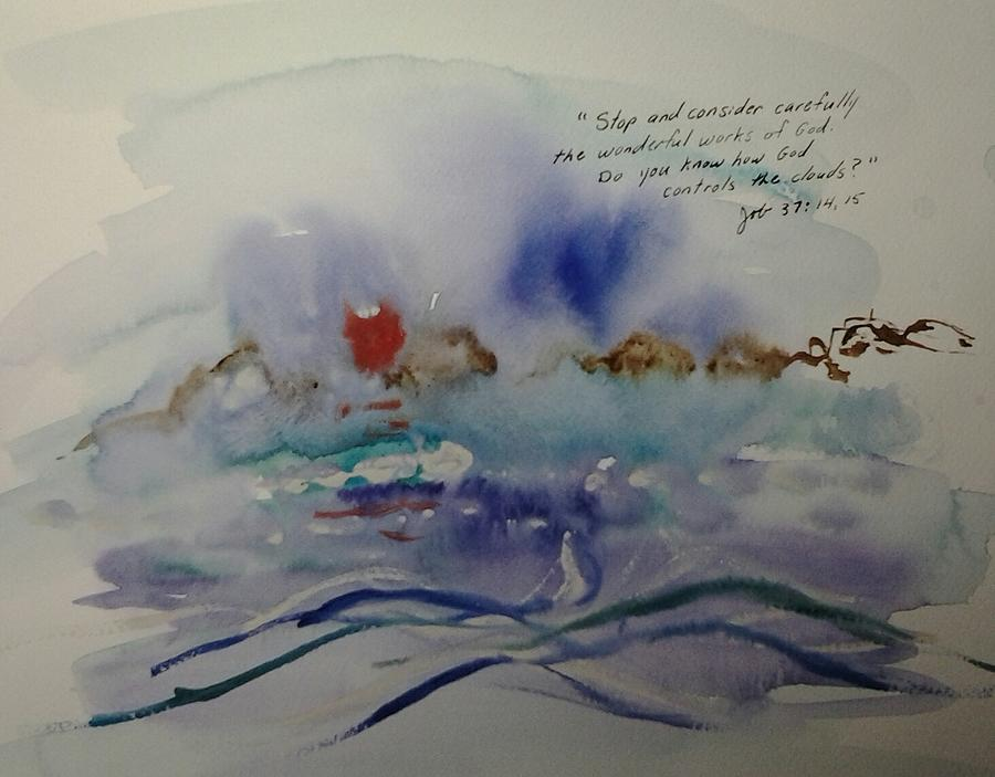 Watercolor Painting - The Wonderful Works of God by B L Qualls