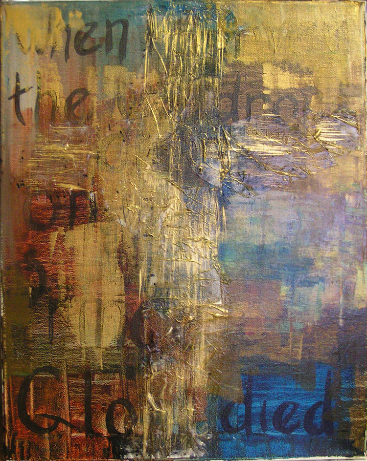 Cross Painting - The Wondrous Cross by Donielle Boal