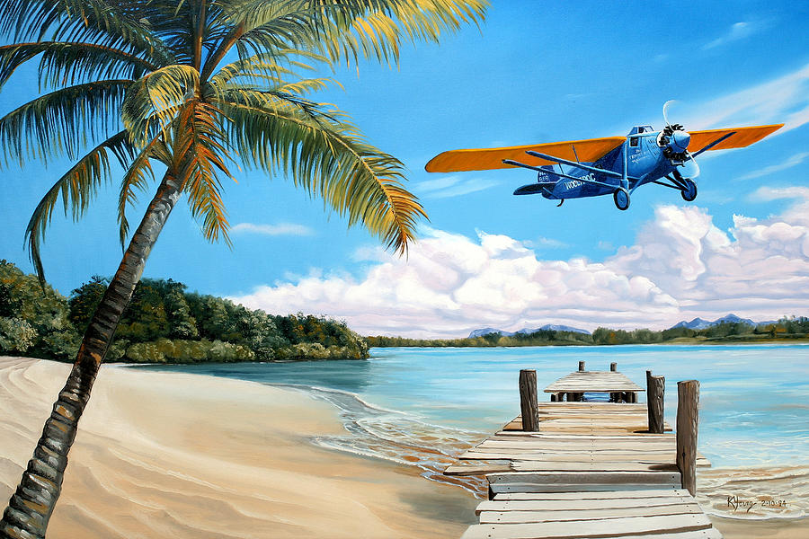 Aviation Painting - The Woolaroc by Kenneth Young