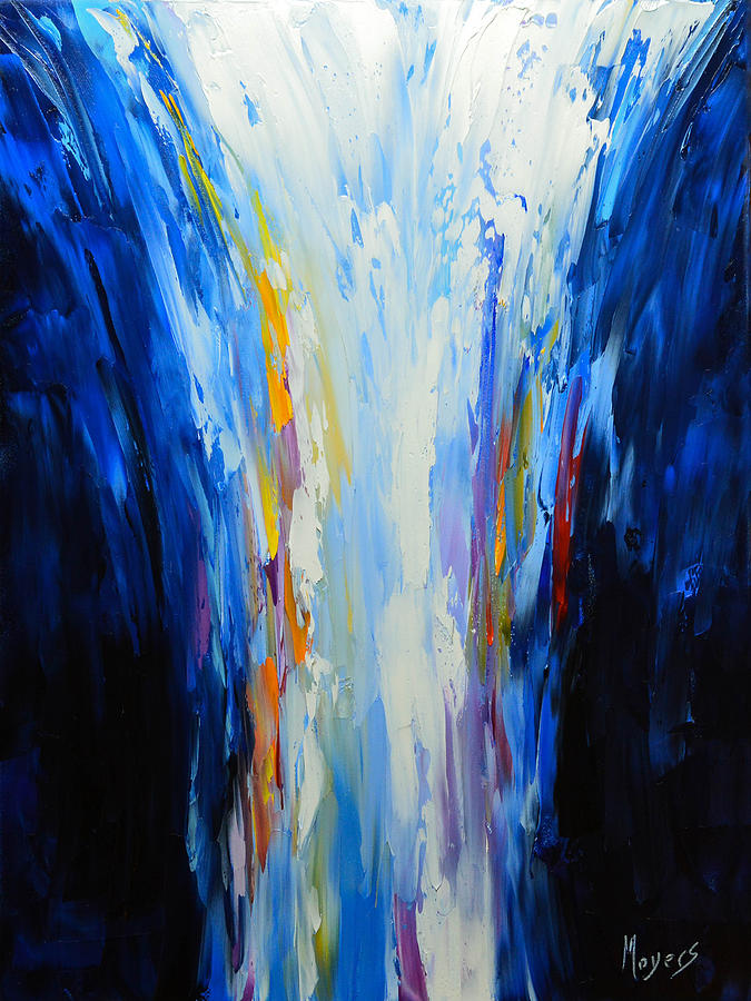 Abstract Painting - The Word Made Flesh, God Poured Out by Mike Moyers