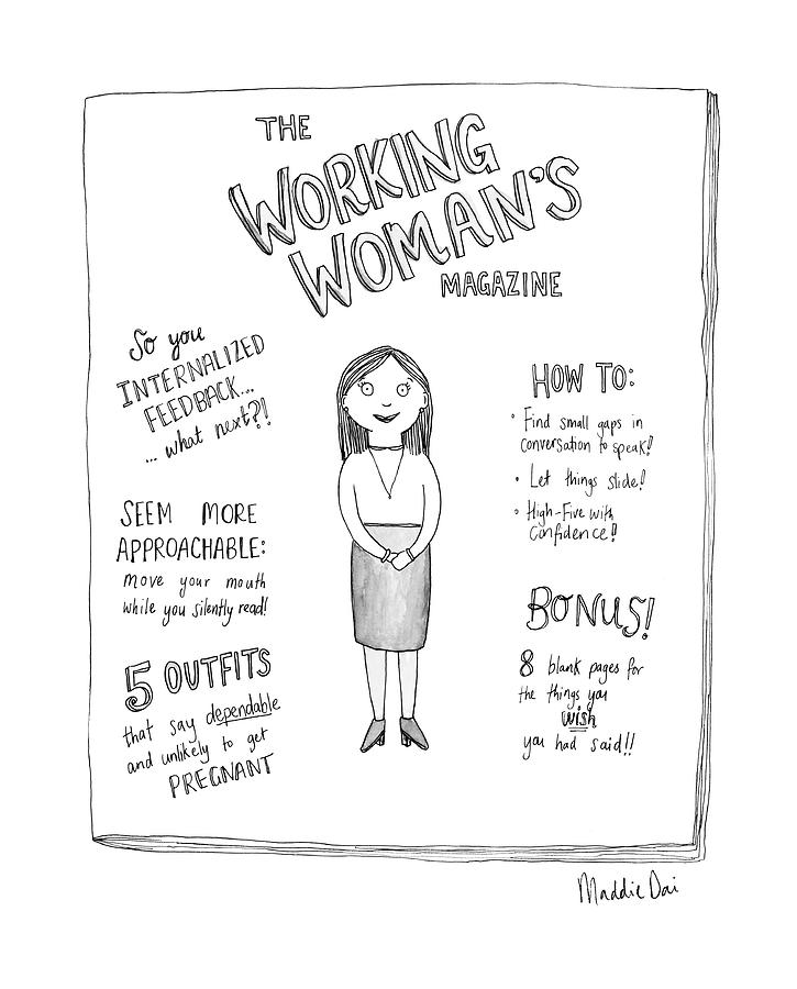 The Working Womans Magazine Drawing by Maddie Dai