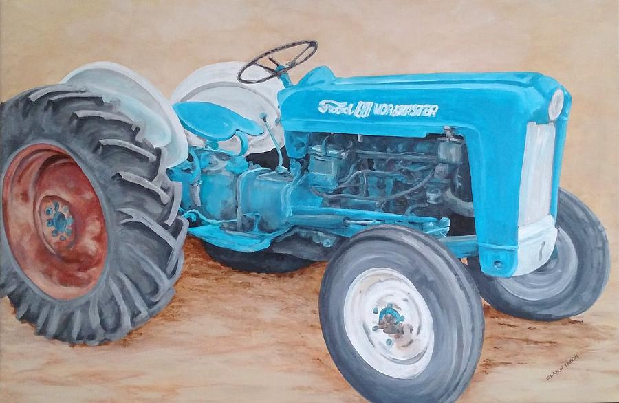 Antique Tractors Painting - The Workmaster by Sharon Tabor
