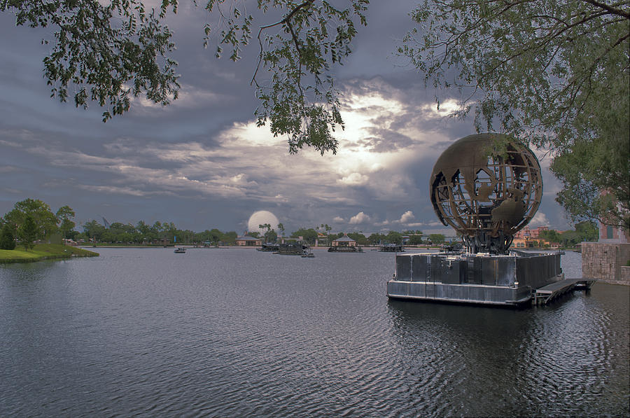 Epcot Photograph - The World Goes Round by Ryan Crane