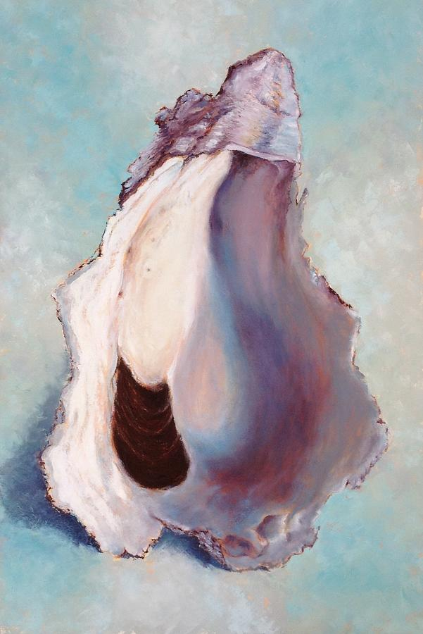 Oyster Painting - The World is your Oyster by Pam Talley