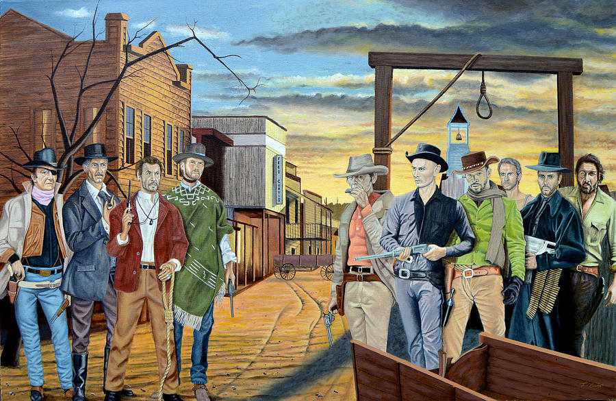 The World Of Classic Westerns Painting by Tony Banos