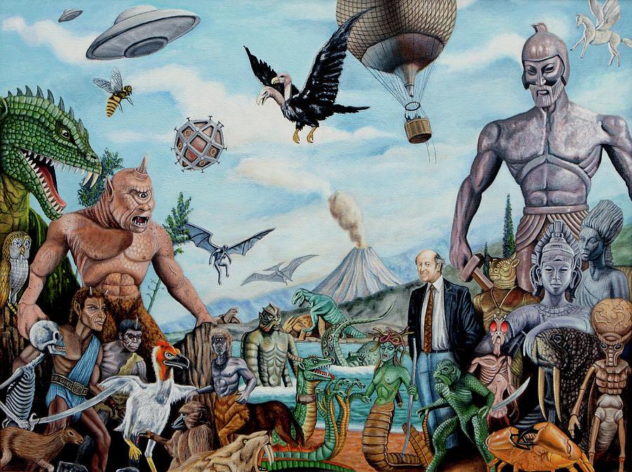 The World Of Ray Harryhausen Painting by Tony Banos