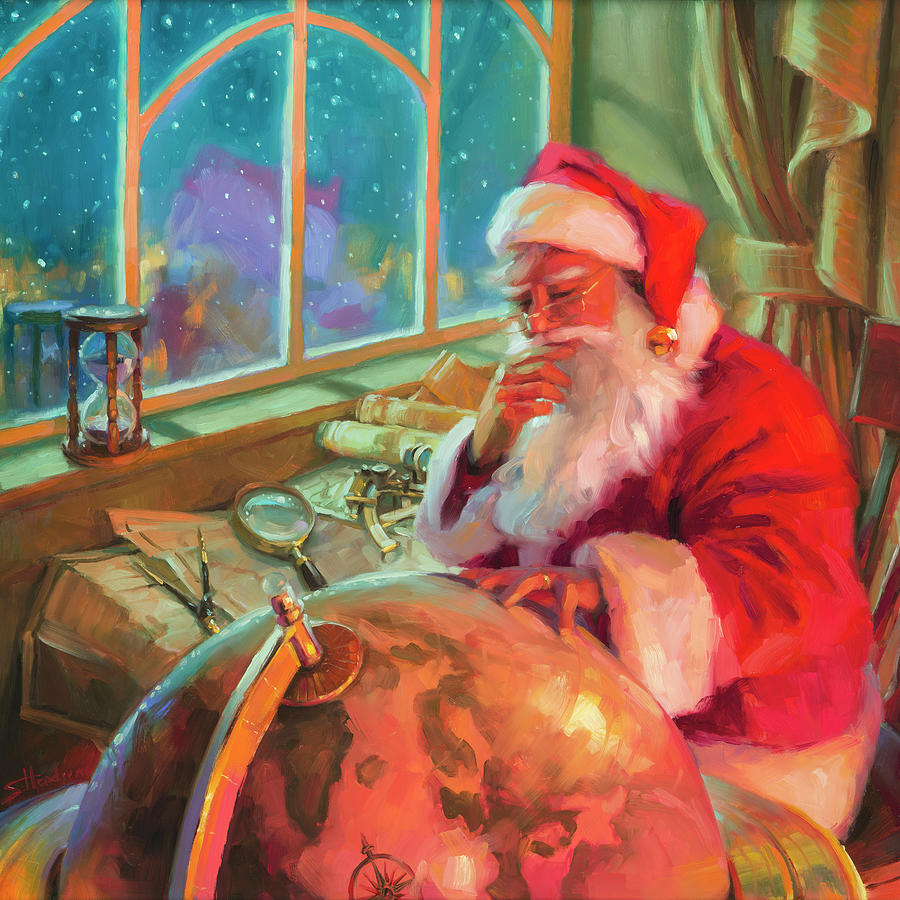 Christmas Painting - The World Traveler by Steve Henderson