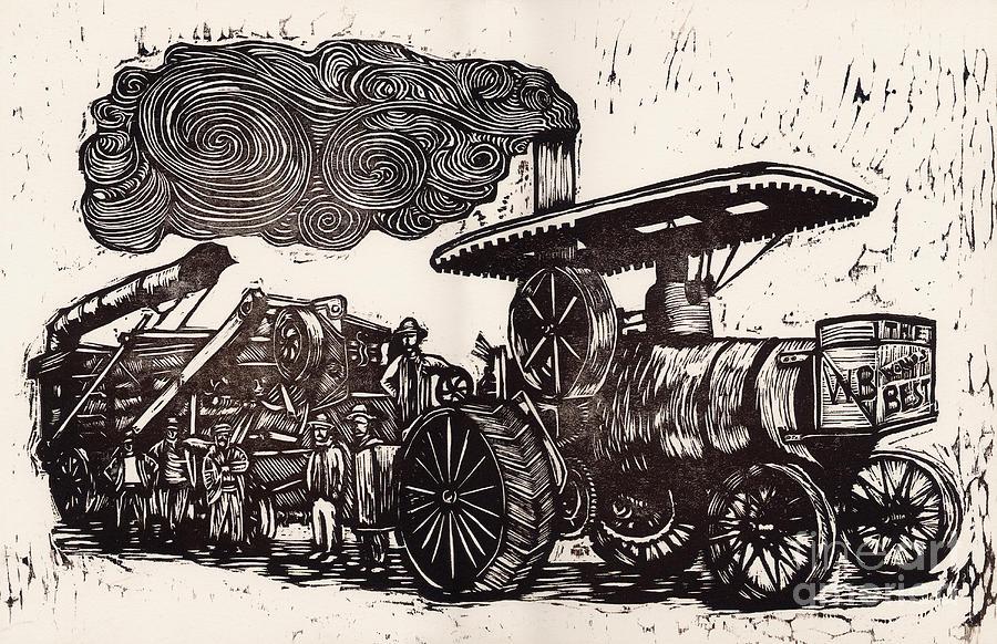 Steam Tractor Painting - The Worlds Best by Mathew Luebbert