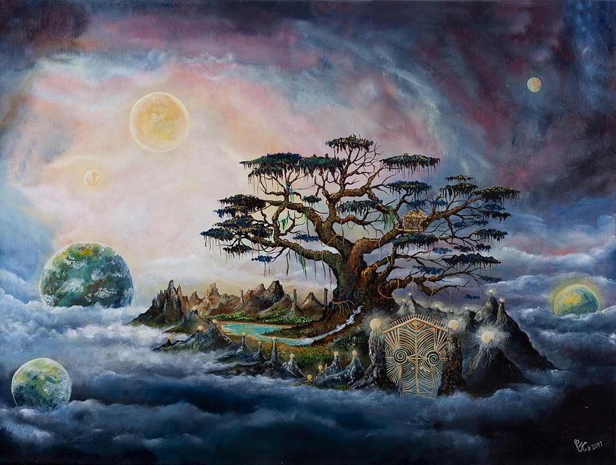 Landscape Painting - The Worldsaver by Krakowski Conny