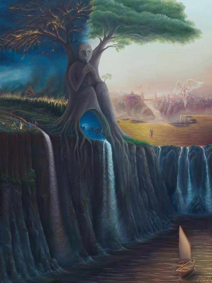 Tree Painting - The Worldtree by Brian Nunes