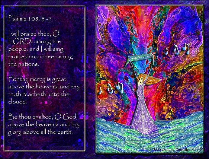 Praise Digital Art - The Worshipping Heart And The Anointing Of Colors by Cassandra Donnelly