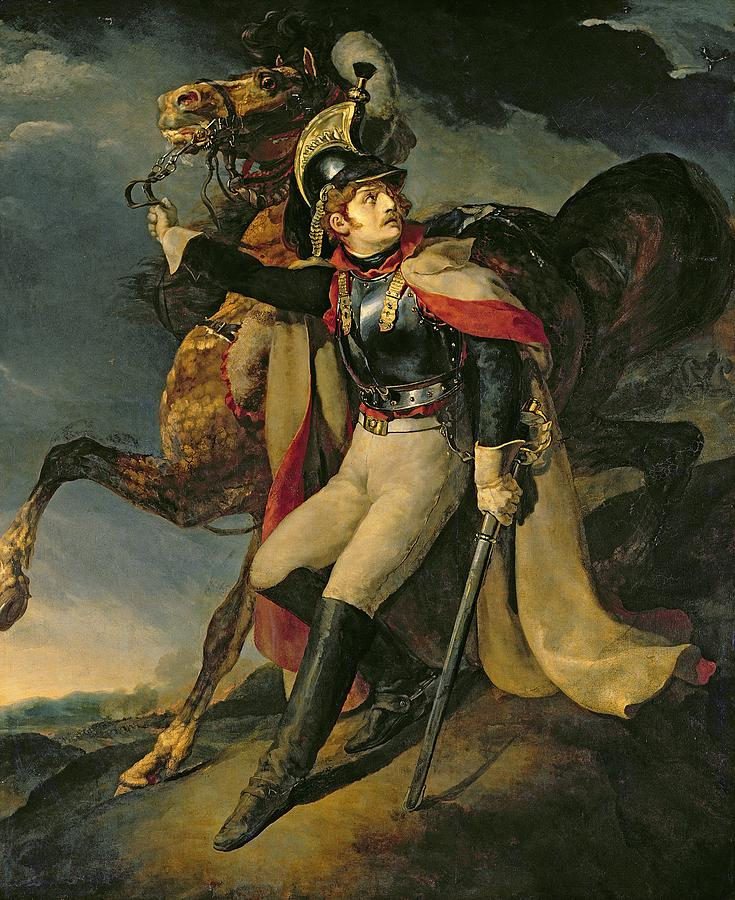The Painting - The Wounded Cuirassier by Theodore Gericault
