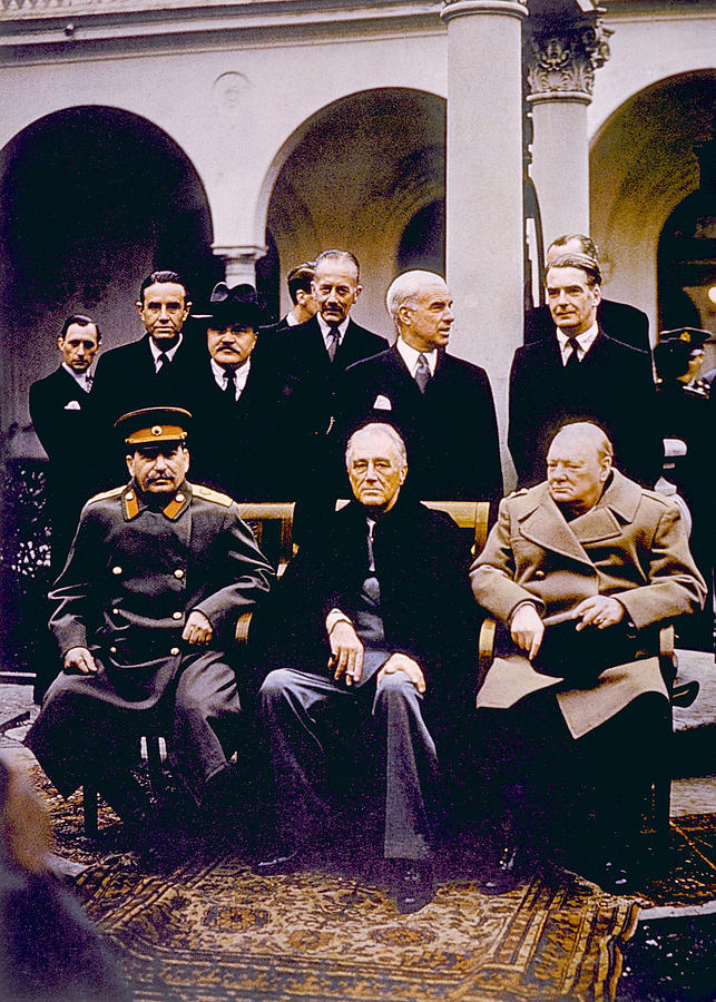 Churchill Photograph - The Yalta Conference, Seated Joseph by Everett