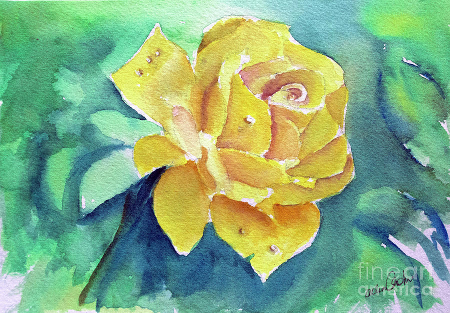 The Yellow Rose Painting
