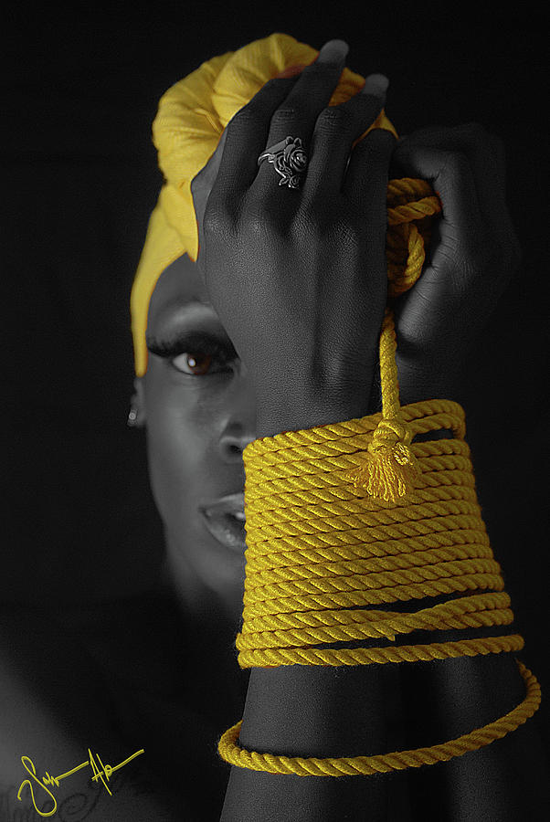 Rope Bondage Photograph - The Yellow by Solomon Abrams