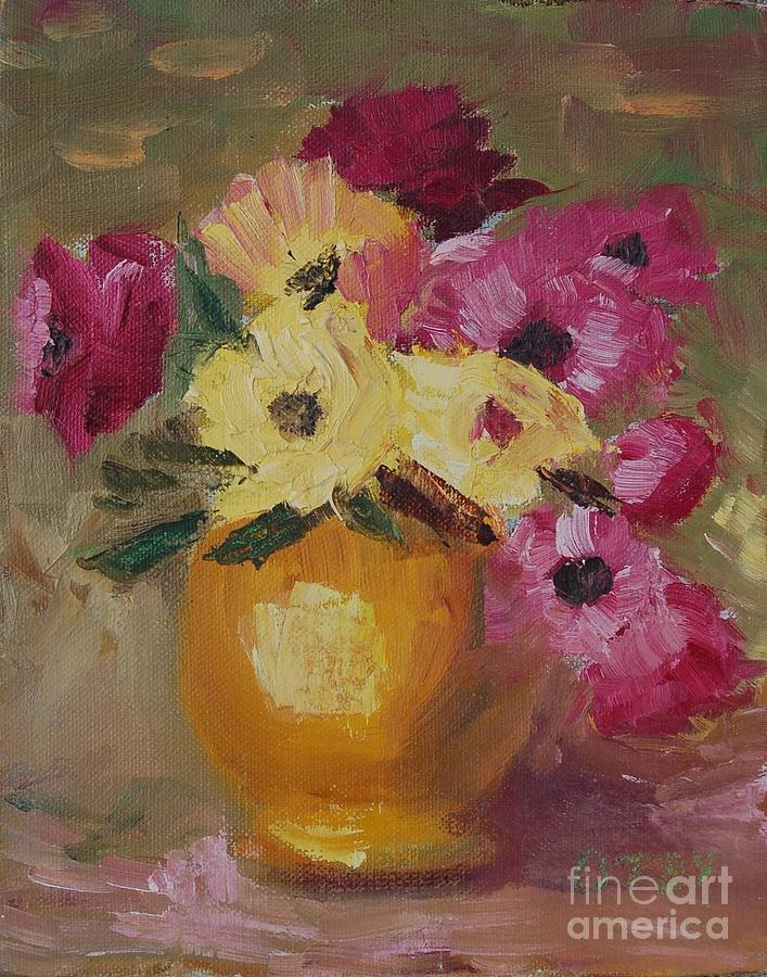 The Yellow Vase Painting By Barbara Otey