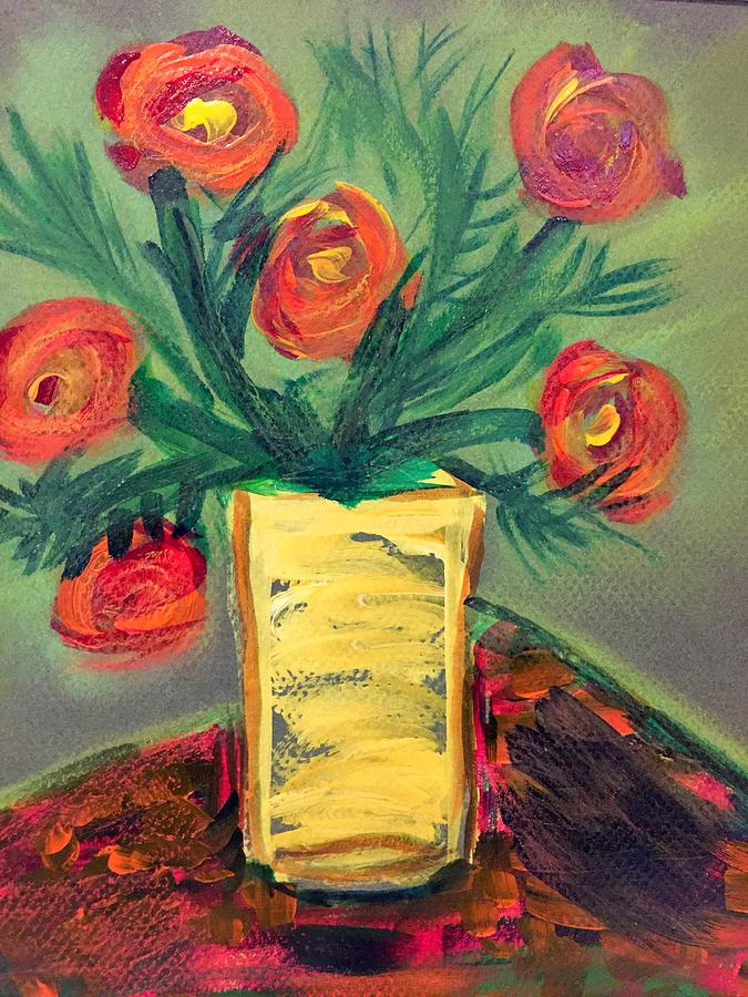 The Yellow Vase Painting By Toula Clubb