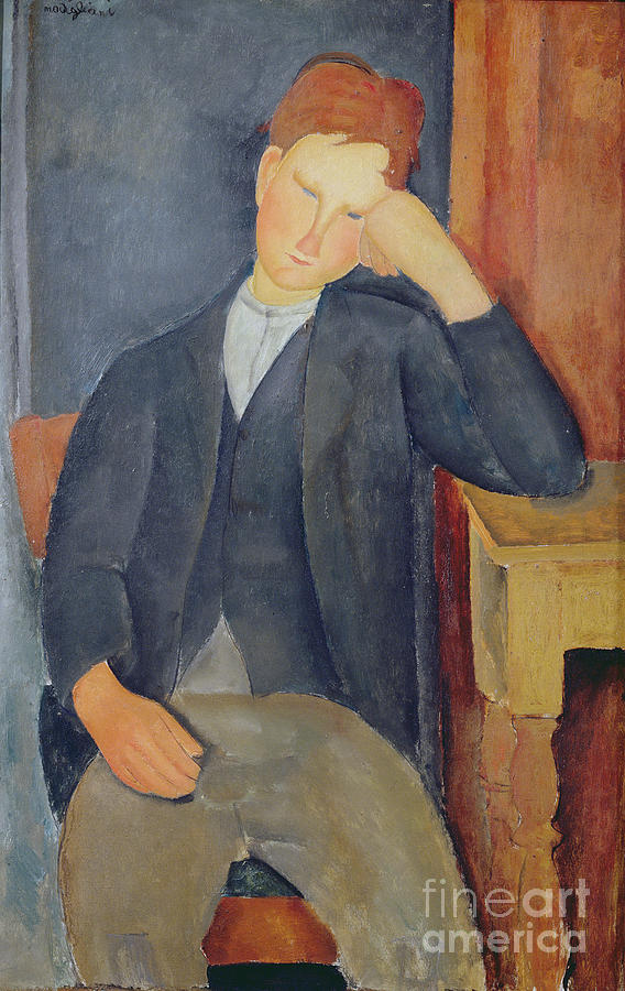 The Painting - The Young Apprentice by Amedeo Modigliani
