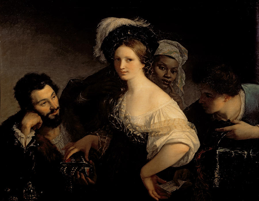 The Painting - The Young Courtesan by Alexandre Francois Xavier Sigalon