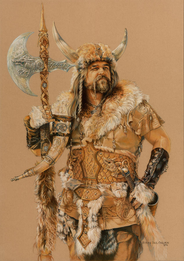 Viking Painting - The Young Son Of Bor by Steven Paul Carlson