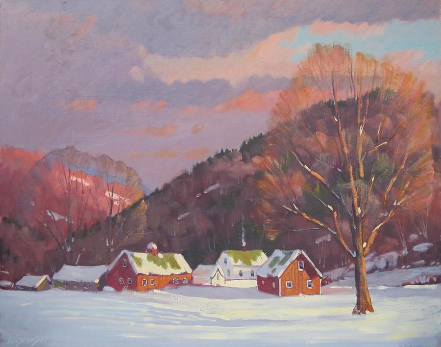Trees Painting - The Zieminski Farm by Len Stomski