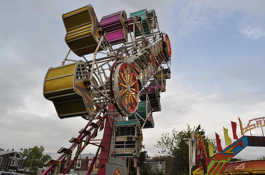 Carnival Photograph - The Zipper by Brynn Ditsche