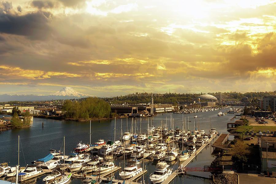 Tacoma Photograph - Thea Foss Waterway In Tacoma Washington by David Gn