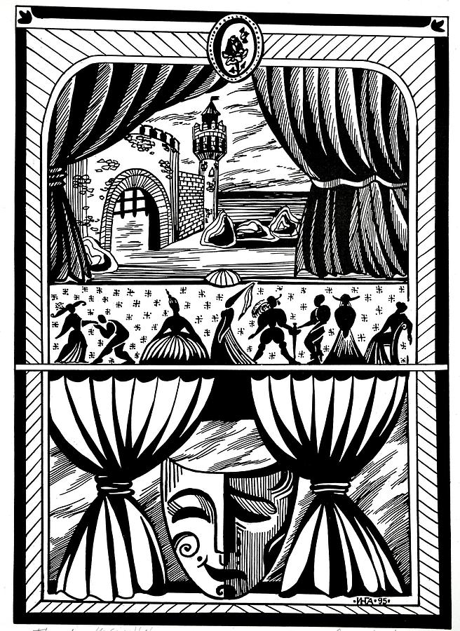Abstract Drawing - Theater by Inga Vereshchagina