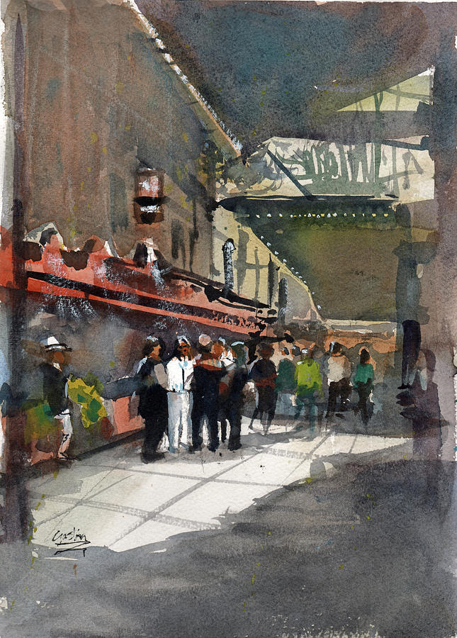 Theater Painting - Theater Restaurants London  by Gaston McKenzie