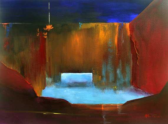 Theatre Space Painting by Alan Brain
