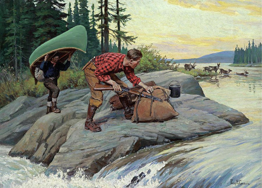 Their Lucky Day Painting by Philip R Goodwin