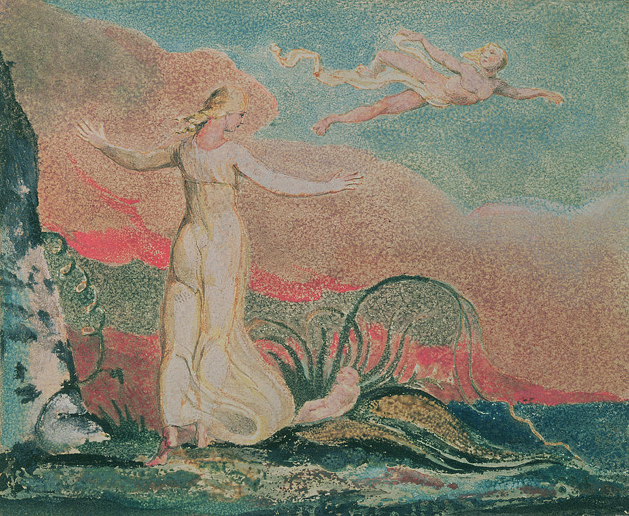 The Painting - Thel In The Vale Of Har by William Blake