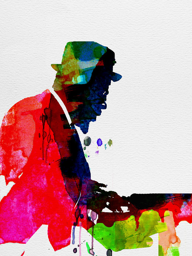 Thelonious Monk Painting - Thelonious Watercolor by Naxart Studio